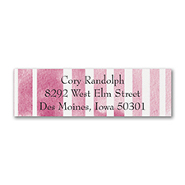 Watercolor Stripes - Address Label